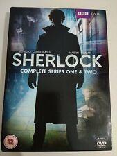 SHERLOCK HOLMES Complete Series Season 1 & 2 DVD BBC Benedict Cumberbatch