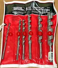 "Mibro 6 Piece Auger Bit Set 1/4"" 3/8"" 1/2"" 5/8"" 3/4"" 1"""
