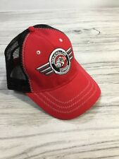 """Snap-On Tools """"Rock N' Roll Cab Express"""" Mesh Trucker StrapBack Hat Red Black H5"""