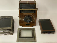 "Eastman Kodak 5x7 1907 Wooden View Camera No. 33A W/Wollensak 8 1/4"" f/4.5 Betax"