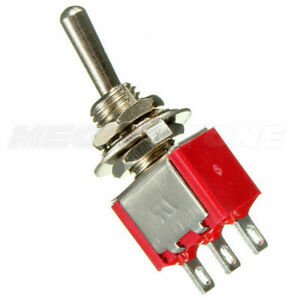SPDT Momentary Mini Toggle Switch (ON)-OFF-(ON) Solder Lug... USA Seller!!!