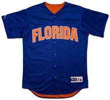 Vintage MAJESTIC Florida Gators Baseball Jersey Blue Orange Reversible Medium M