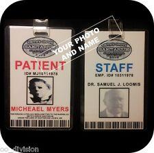 HALLOWEEN Movie ID Badge MICHAEL MYERS Sanitarium CUSTOM MADE ID your choice
