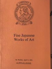 Christie's London, Fine Japanese Works of Art, April 9, 1973