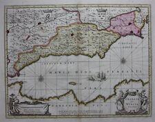 Mapa Antiguo Original, España, 'Granata et MURCIA Regna' , Schenk & Valk, c.1700
