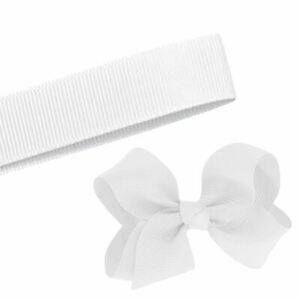 5 Yards Solid White Grosgrain Ribbon Yardage DIY Crafts Bows Décor USA