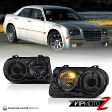 """05-10 Chrysler 300C """"Factory Style"""" Smoked Lens Replacement Headlight LEFT+RIGHT"""