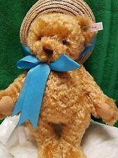 Steiff German Teddy bear MOHAIR ear button Daisy Blond 1999 limited NIB