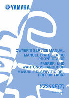 Yamaha YZ250 F YZ250(F)T 2004 Owners Service Manual, FREE SHIPPING
