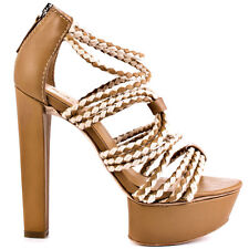 NIB $285 L.A.M.B LAMB Morisa platform leather rope  strapy sandals shoes 6,5