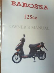 Barossa 125 cc owners handbook hand book manual