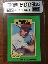 RICHIE ASHBURN ALL-TIME GREATS AUTOGRAPHED SIGNED AUTO BASEBALL CARD CAS COA