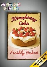 Strawberry CAke Rétro Vintage Citation Poster