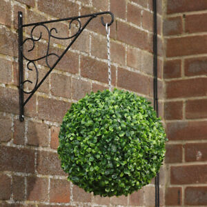 Large Artificial Green Boxwood Topiary Balls Outdoor Garden Hanging Basket Plant
