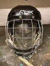 Original Eishockey Helm Größe 57 - 61 Kopfumfang Eishockeyhelm Schwarz