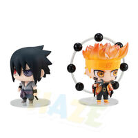 2pcs/set Nendoroid Anime Naruto Uzumaki Naruto Uchiha Sasuke PVC Figure 9cm