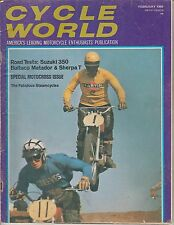 FEB 1969 CYCLE WORLD vintage motorcycle magazine