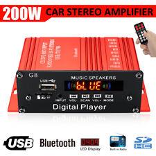 200W Car HIFI Audio Stereo Power bluetooth Amplifier AMP FM Radio USB TF AUX