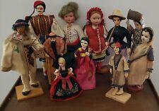 Vintage Collectible Ethnic Folk World Travel Souvenir Dolls * Lot Of 11 * Rare