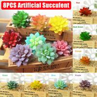 8PCS Artificial Succulent Flowers Plant Desktop Floral Faux Succulent Bonsai