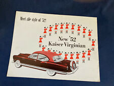 1952 Kaiser Virginian Color Brochure Catalog Prospekt