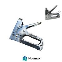 Haumax Vollmetall Handtacker Klammergerät Staple Gun mit 600 Klammern
