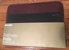 """Incase 13"""" Olive Canvas/Leather Pathway Folio For MacBook Pro 13"""" -CL60427- NEW!"""