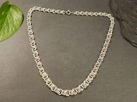 Tolle 835 Silber Kette Knoten Jugendstil Art Deco Vintage Retro Lang Elegant