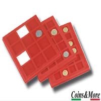 Vassoio per Monete Master Phil Piccolo floccato Rosso collezionismo Coins&More
