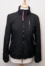 Superdry Windhiker women's black fleece lined windcheater bomber jacket S uk 8