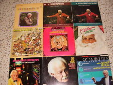 ARTHUR  FIEDLER  AND  THE  BOSTON POPS * COLLECTION * NINE DIFFERENT RECORDS