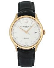 Baume & Mercier 18K Rose Gold Clifton Automatic Men's Watch MOA10058