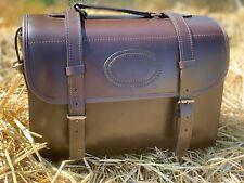 Luxurious Genuine Real Brown Leather Cartridge Magazine Bag Hunting Shooting