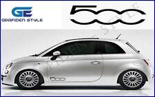 1 Paar FIAT 500 - Auto Seiten Aufkleber - Car Sticker !