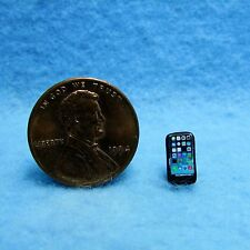 Dollhouse Miniature Smart Phone / Cell Phone Black with Icons ~ IM65577