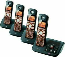 Cordless Phone System 4 Handsets Motorola DECT 6.0 Answering Machine Caller ID