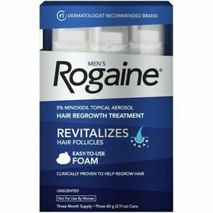 Men's Rogaine 5% Minoxidil Hair Regrowth Treatment Foam -3 Months 06/2022