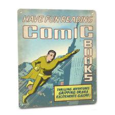 Comic Books Sign Store Display Fun Wall Art Decor Collector Superhero Super Hero
