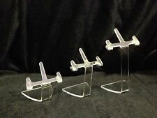 CLEAR ACRYLIC SUNGLASSES & SPECTACLE DISPLAY STANDS  SET OF 3 NEW