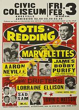 Otis Redding, MARVELETTES, The Drifters + plus vintage concert poster print