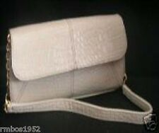 Liz Claiborne Purse Sand Reptile Handbag New Ivory  NEW