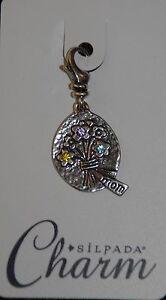 SILPADA Sterling Silver Charm Collection - Send Flowers - C2557 - NIB!
