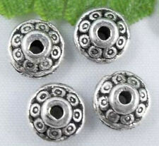 Free Ship 50Pcs Tibetan Silver Flying Saucer Shape Spacer Beads 7x3mm