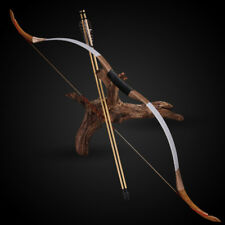 Traditional Handmade Cow Leather Recurve Bow 30lbs Archery Longbow for Hunting