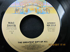 Mac Davis It's Hard To Be Humble & The Greatest Gift of All - Casablanca  45RPM
