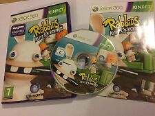 XBOX 360 KINECT GAME RABBIDS ALIVE & KICKING +BOX INSTRUCTIONS COMPLETE PAL GWO