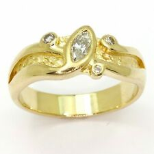 0.36cts Diamond 18ct Yellow Gold Engagement Ring - Size O - Valued $3,685