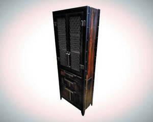 Industrial Storage Locker • Reclaimed Wood and Steel • #060ST