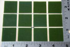 "0345.30 Opal Steel Jade 12 Pieces 1"" x 1"" 3mm Bullseye Glass 90 Coe"