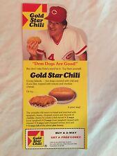 Pete Rose Gold Star Chili Cincinnati Reds Advertisement Coupon-Odd Ball Card